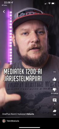 Tekniikkaluolan Karri Suonperä lyhyellä YouTube Shorts -videolla.