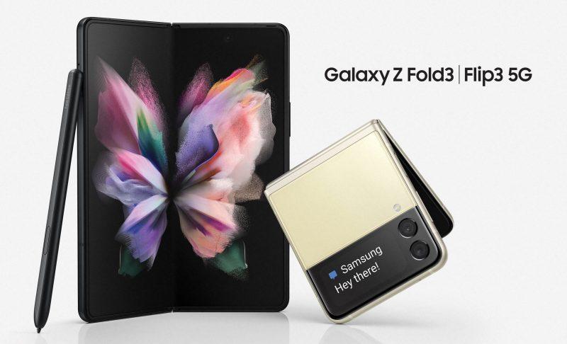 Samsung Galaxy Z Fold3 5G ja Galaxy Z Flip3 5G.