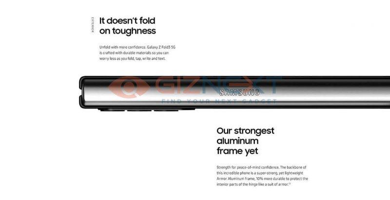 """Samsungin uusi """"Armor Aluminum"""" -alumiini on 10 prosenttia sen tähän asti käyttämää vahvempaa. Kuva: GizNext."""