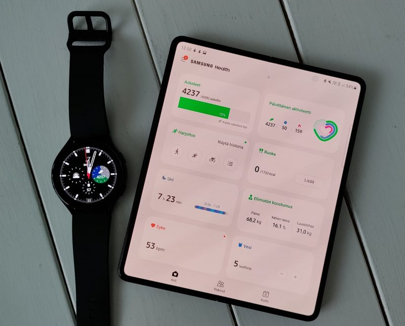 Samsung Health on monipuolinen terveyssovellus.