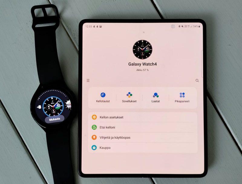 Galaxy Wearable -sovelluksella hallinnoidaan Samsung-lisälaitteita.