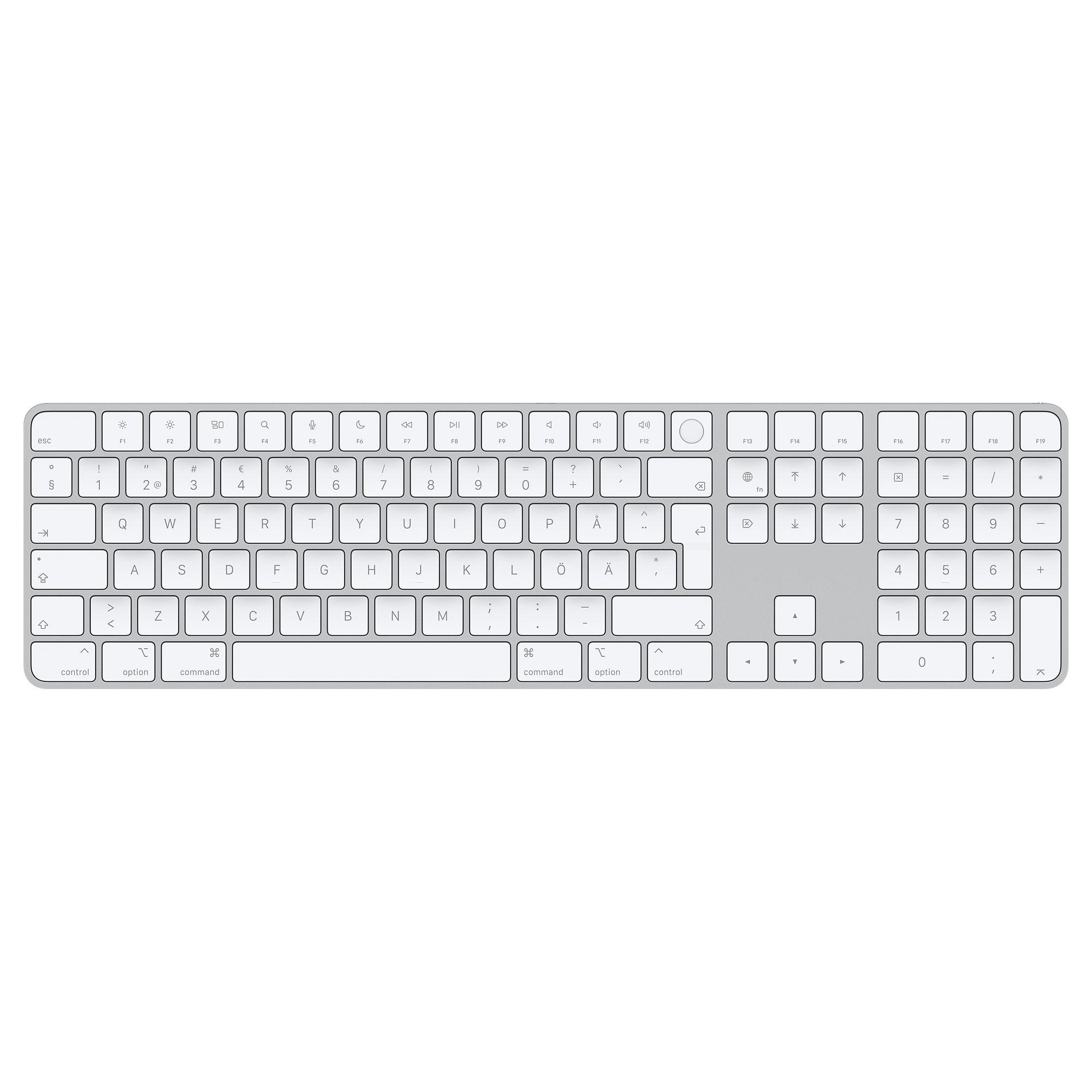 Magic Keyboard Touch ID:llä ja numeronäppäimistöllä.