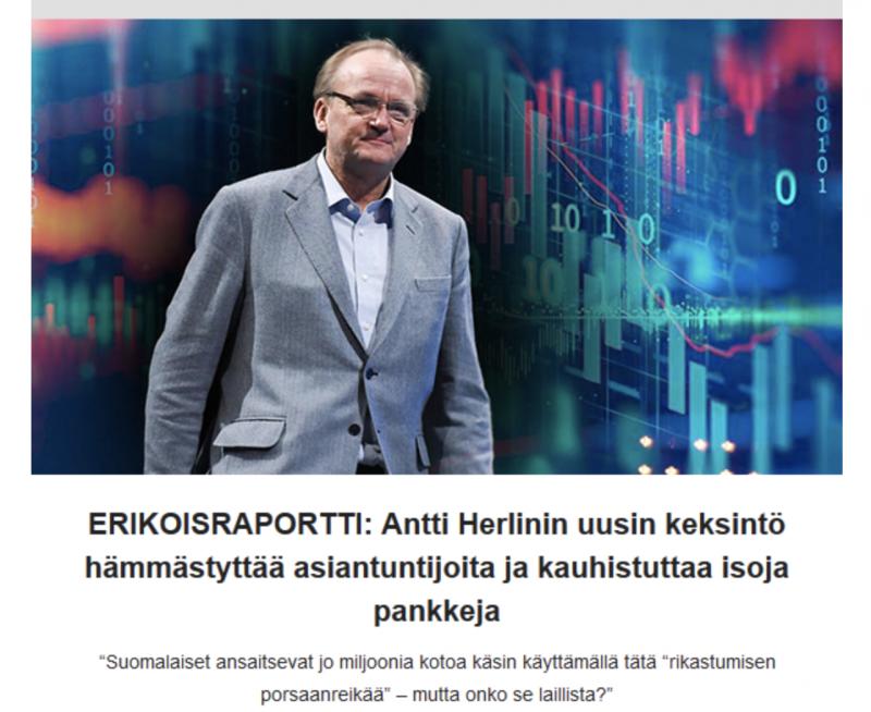 Antti Herlin esillä vastaavassa huijauksessa, aivan samoin sanankääntein kuin Jasper Pääkkönen.