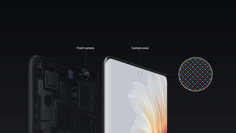Etukamera on sijoitettu näyttöpaneelin alle MIX 4:ssä.
