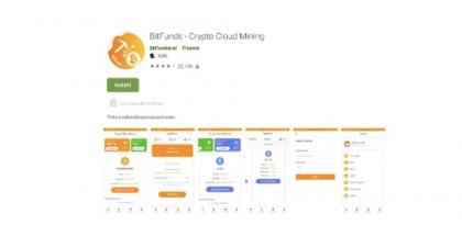 BitFunds – Crypto Cloud Mining -sovelluksella oli yli 100 000 latausta.