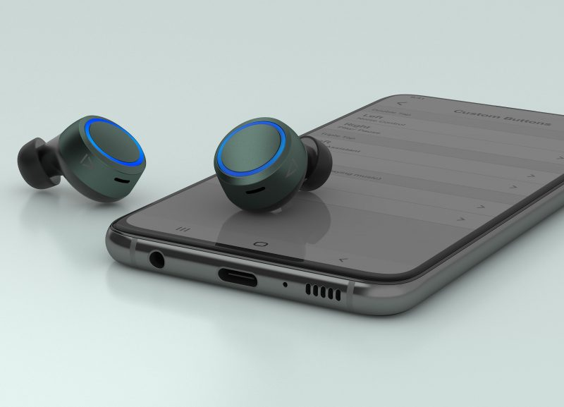 Kuulokkeiden kosketustoimintoja voi mukauttaa Creativen sovelluksella.