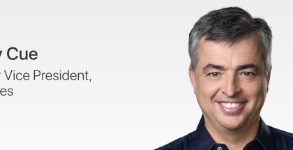 Eddy Cuen titteli lyhyentyi. Hän on nyt Applen palveluista vastaava johtaja.