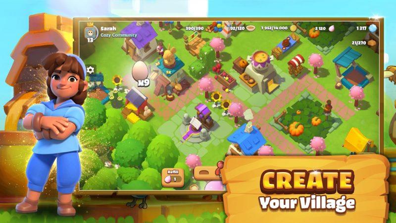 Everdalessa on tarkoitus rakentaa kylää - ja tehdä yhteistyötä muiden pelaajien kanssa.