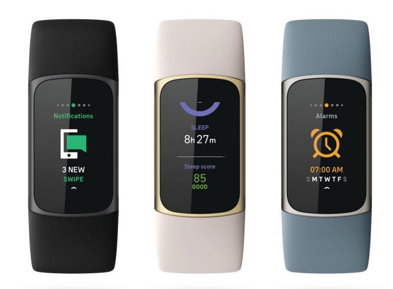 Fitbit Charge 5:ssä tietoa ilmoituksista, unesta ja herätyksestä.