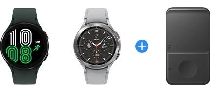 Galaxy Watch4 ja Galaxy Watch4 Classic -kellojen ennakkotilaajille on kaupan päälle tarjolla latausalusta.