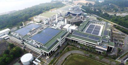 GlobalFoundriesin tuotantolaitos Singaporessa.
