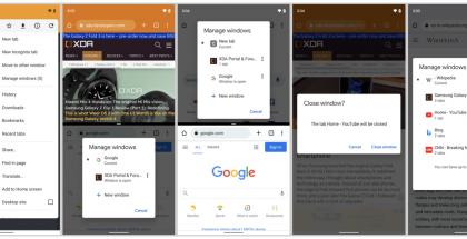 Google Chrome saa tuen erillisille sovellusikkunoille Android 12:ssa. Kuvat: XDA Developers.