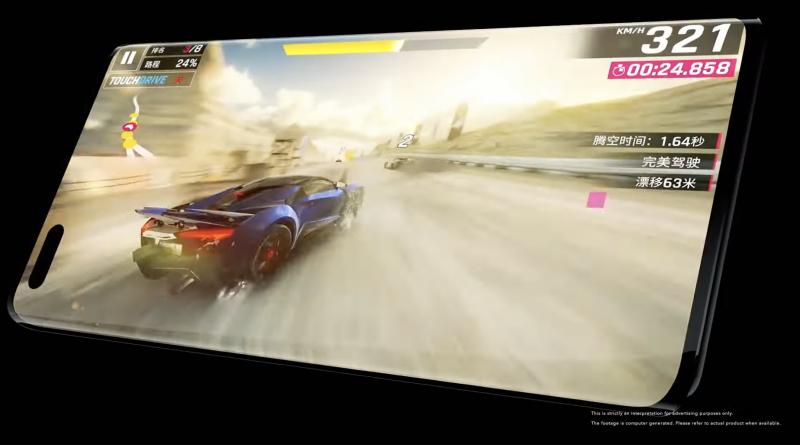 Kuvankaappaus Honor Magic3 -ennakkovideolta esittelee puhelinta pelikäytössä.