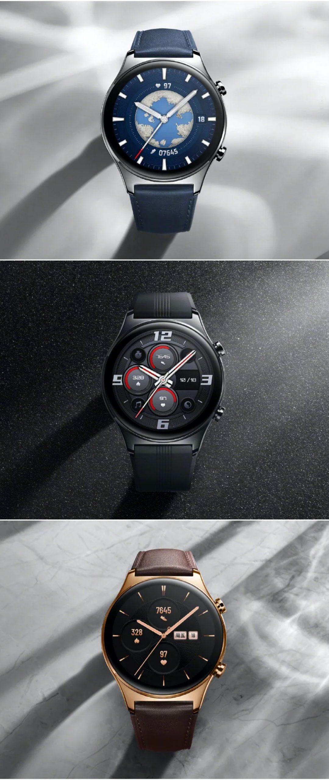Honor Watch GS 3 eri väreissä.