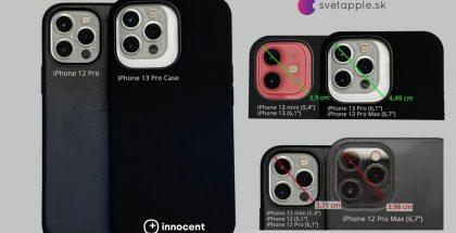 Svetapple.sk:n julkaisema kuvakoelma tulevista iPhone 13 -mallien suojakuorista kertoo, miten kamerakohoumat tulevat niissä kasvamaan.