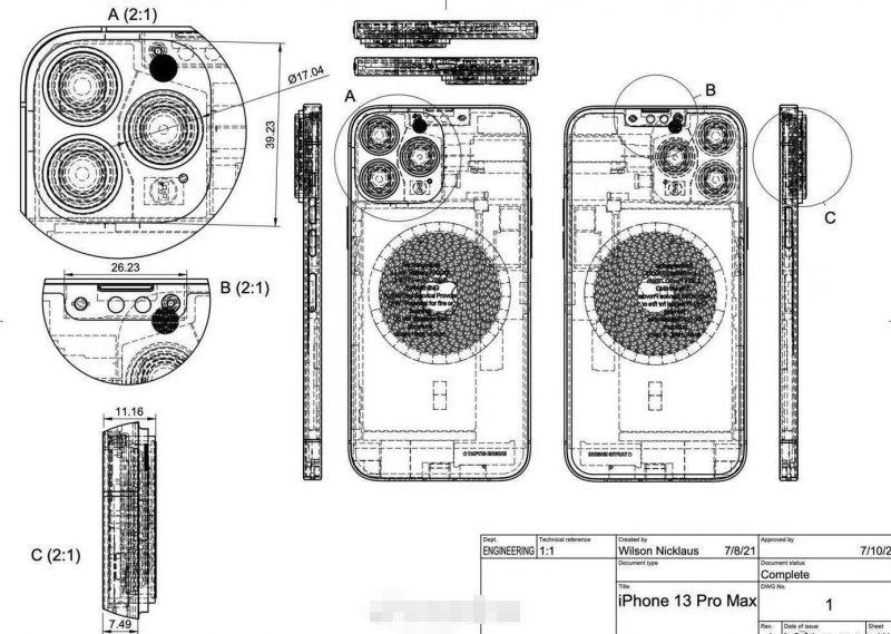 iPhone 13 Pro Maxin mallipiirros.