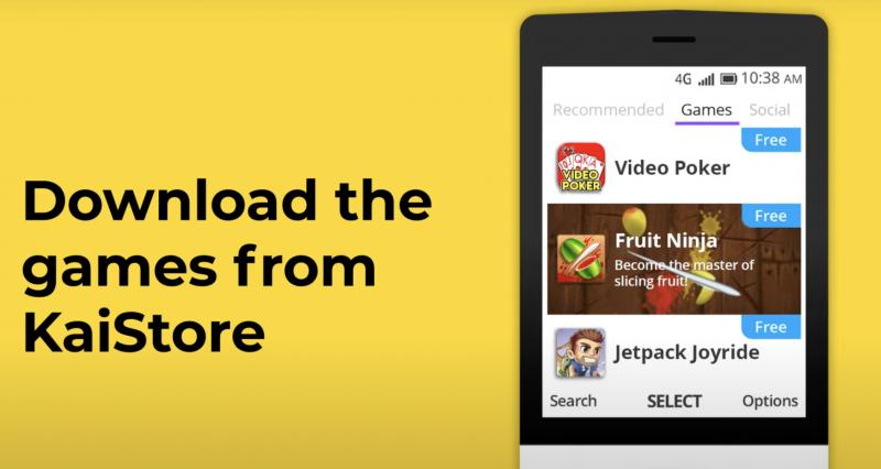 Fruit Ninja ja Jetpack Joyride ovat saatavilla KaiOS Storesta.