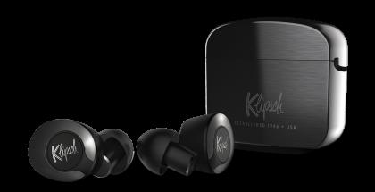 Klipsch T5 II -kuulokkeet ja -latauskotelo.