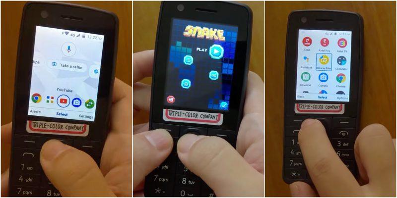 Mukana HMD Globalin kehittämässä Nokia 400 4G -peruspuhelimessa oli laajasti eri sovelluksia sekä myös Snake-matopeli.