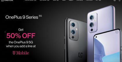 Yhdysvalloissa OnePlus 9 on nyt saatavilla 50 prosentin alennuksella, kun tilaa samalla uuden liittymän T-Mobilelta.