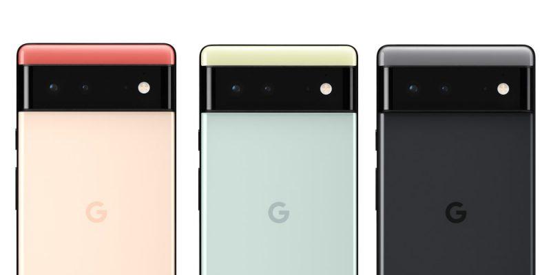Pixel 6:n värivaihtoehdot.