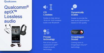 Qualcomm aptX Lossless -koodekki tuo häviöttömän äänenlaadun Bluetooth-kuulokkeisiin.