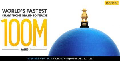 Realme on toimittanut 100 miljoonaa älypuhelinta.
