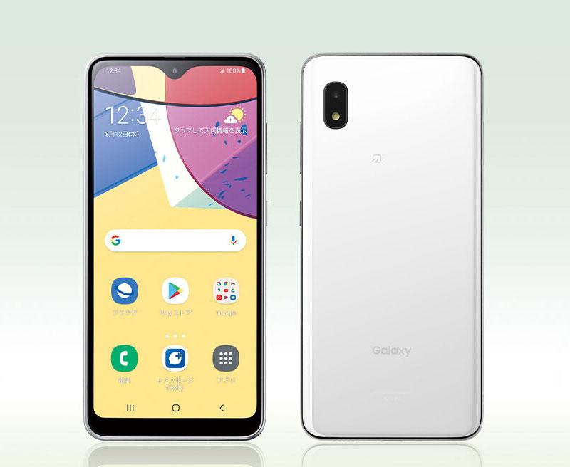 Samsung Galaxy A21 Simple edestä ja takaa.