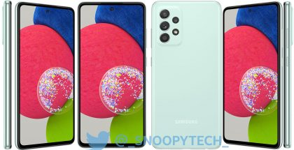 Samsung Galaxy A52s 5G, Awesome Mint. Kuva: _snoopytech_ / Twitter.