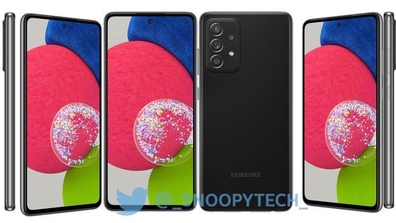 Samsung Galaxy A52s 5G, Awesome Black. Kuva: _snoopytech_ / Twitter.