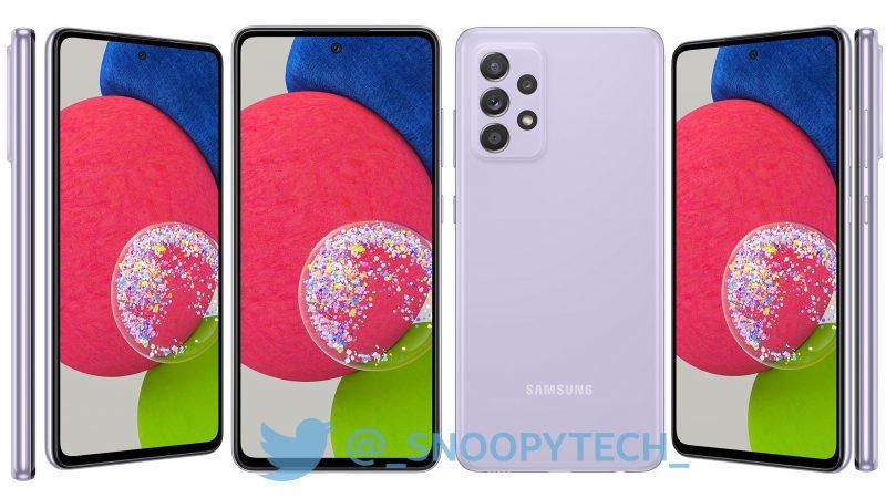 Samsung Galaxy A52s 5G, Awesome Purple. Kuva: _snoopytech_ / Twitter.