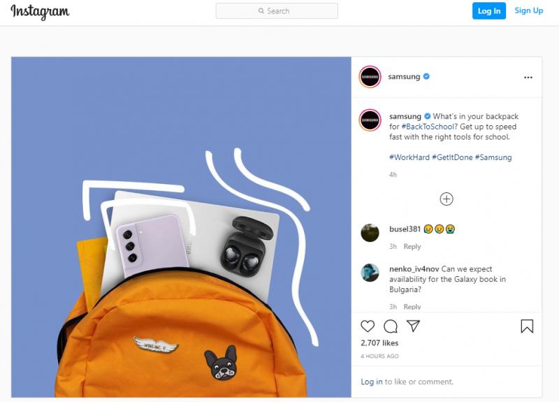 Samsungin sittemmin poistamassa Instagram-postauksessa nähtiin sen vielä julkistamaton Galaxy S21 FE -älypuhelinmalli.