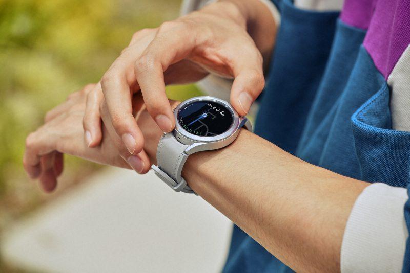 Navigointi Galaxy Watch4 Classicissa.