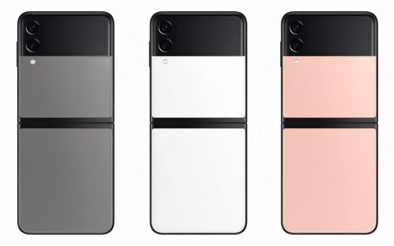 Samsung Galaxy Z Flip3 5G:n kolme erikoisvärivaihtoehtoa, jotka ovat saatavilla Samsungin verkkokaupan kautta.