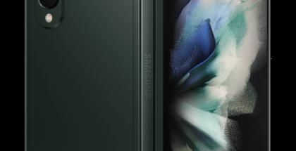 Samsung Galaxy Z Fold3, Phantom Green. Kuva: Evan Blass.