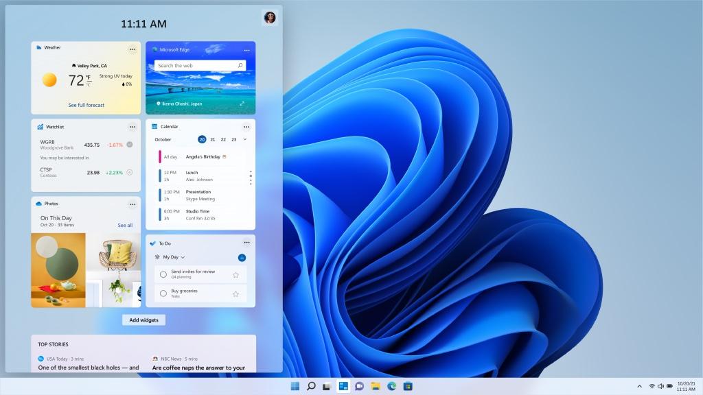 Windows 11:n widget-näkymä avaa linkit Edgessä, oli oletusverkkoselain sitten mikä tahansa.