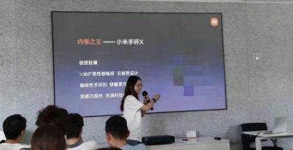 Kuvassa Xiaomin esityksestä mainittu Mi Band X ei ole todellinen, tulossa oleva tuote.