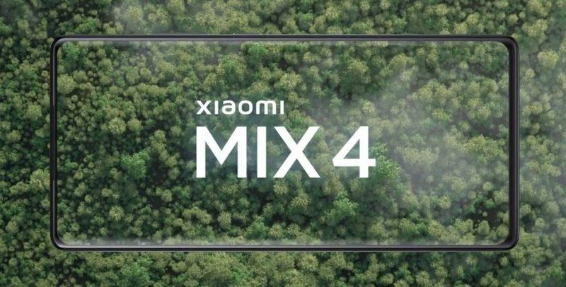 Mi Mix 4 etupuolelta. Xiaomin itse julkaisema ennakkokuva.