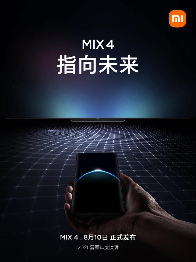Xiaomin vihjaileva Mi MIX 4 -ennakkokuva.