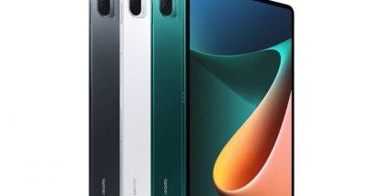 Xiaomi Mi Pad 5 eri värivaihtoehtoina.