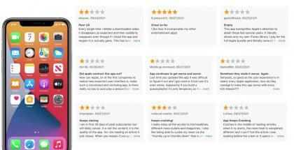 Applen omia sovelluksia voi nyt arvioida App Storessa. Kuva: 9to5Mac.