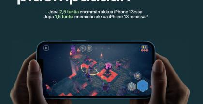 Parempi akunkesto nousee esille myös uusien iPhone 13 -puhelinten markkinoinnissa.