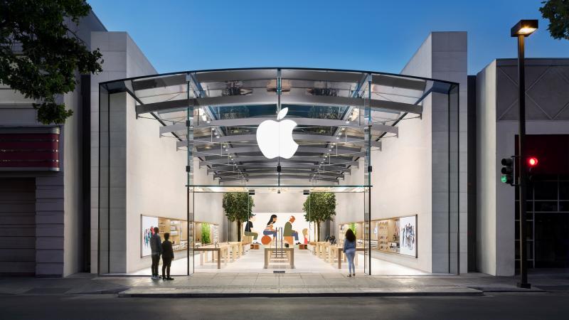 Apple logo Apple Store.