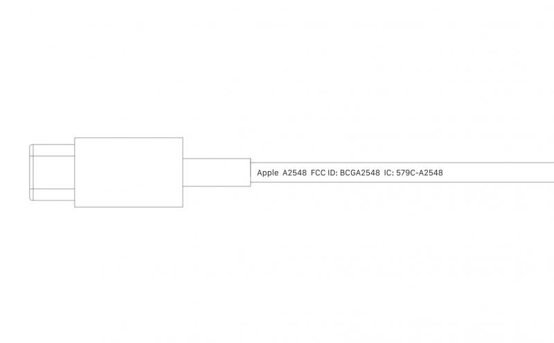Uuden MagSafe-laturin mallikoodi on A2548.