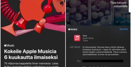 Apple tarjoaa nyt kuuden kuukauden ilmaisen kokeilun Apple Music -musiikkipalveluun.