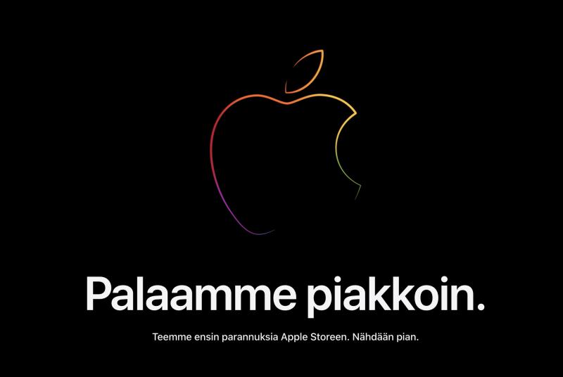 Applen verkkokauppa on nyt sulkeutunut illan julkistustapahtuman edellä.