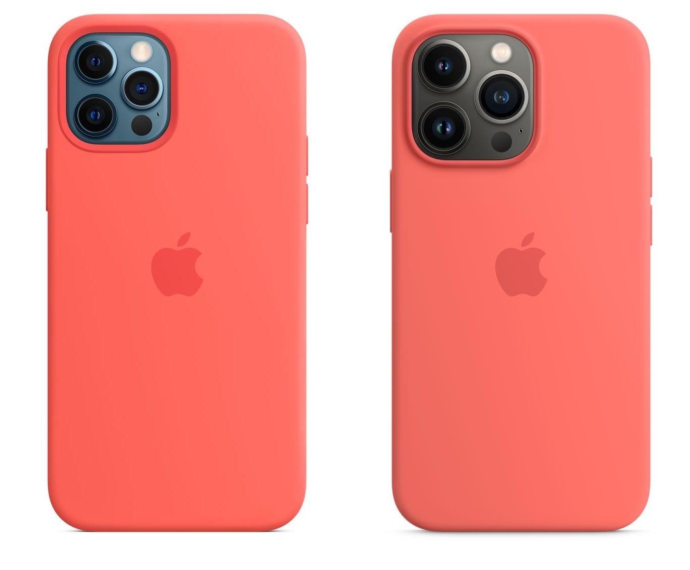 Pro-malleissa ero kamerakohouman koossa on merkittävin. Vasemmalla iPhone 12 Pro, oikealla iPhone 13 Pro.