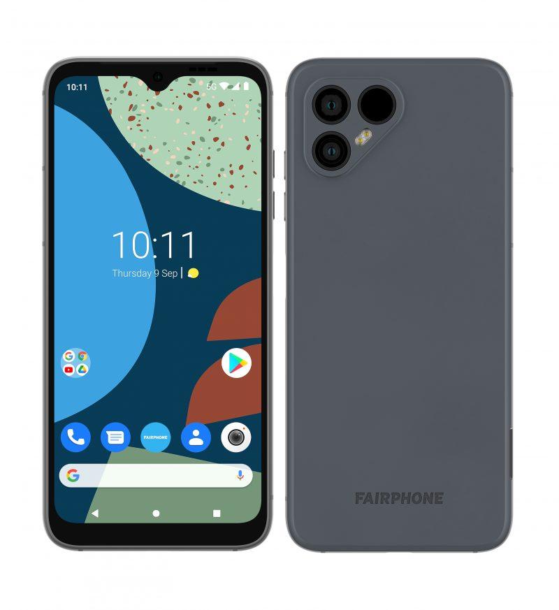 Fairphone 4 harmaana.