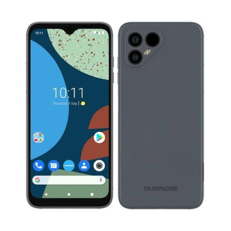 Fairphone 4 harmaana aiemmassa kuvassa.