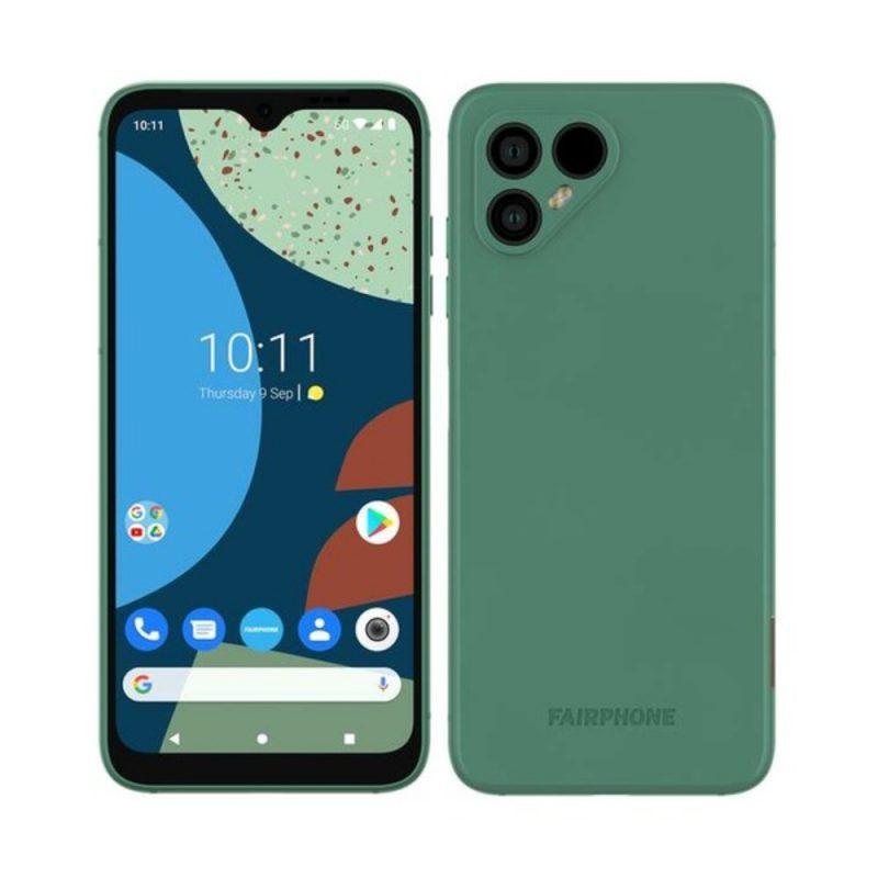 Fairphone 4 vihreänä aiemmassa kuvassa.